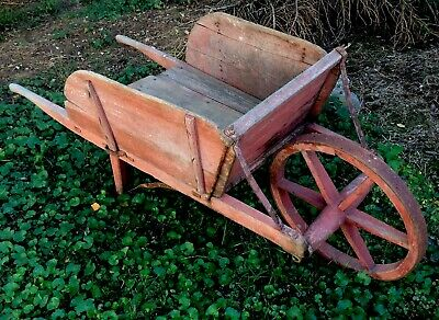 Old Antique Vintage Primitive Full Size Wheelbarrow
