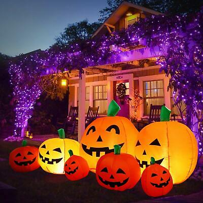8 Ft Halloween Blow up Inflatable Pumpkin Decoration Lighted for Yard/ Garden