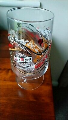 San Miguel Pint Glass Decorated