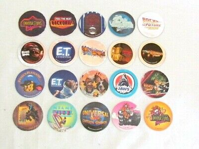 1994 McDonalds Universal Studios Hollywood California complete 24 piece pogs