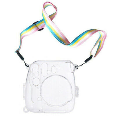 Housing Transparent Camera Case Protective Cover With Strap For Instax Mini 8 9