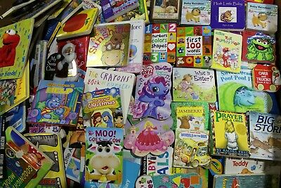 Lot of 10 - Board Books for Children's/ Kids/ Toddler Babies/ Preschool/Daycare