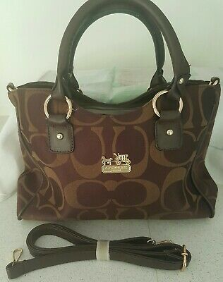 Coach Tagged Brown Handbag (Tagged but we don't believe it to be an original)