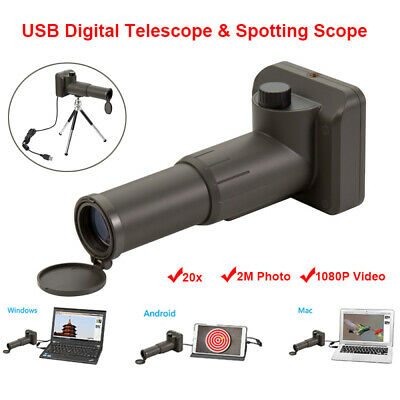 Zoom 20x Digital Telescope Scope 2M USB 1080P Binoculars For Android Tablet Mac