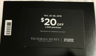 Victoria's Secret Fall Rewards $20 Off a $50 Purchase Coupon
