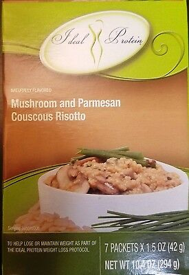 Ideal Protein Mushroom and Parmesan Couscous Risotto