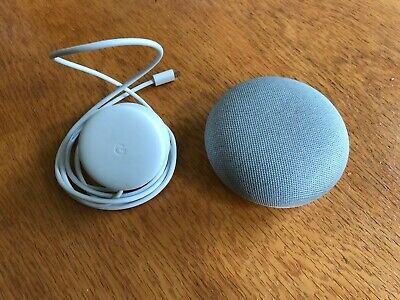Google Home Mini Smart Assistant - Chalk- Excellent used condition
