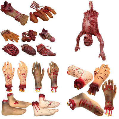 Halloween Decorations Props Realistic Severed Body Parts Hand Feet Props Decor