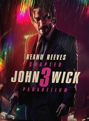 FLASH SALE! NEW John Wick Chapter 3 Parabellum Blu-Ray +DVD +Digital W/ Cover!
