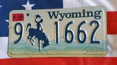 Plaque d'immatriculation Wyoming 9 1662 US USA license plate