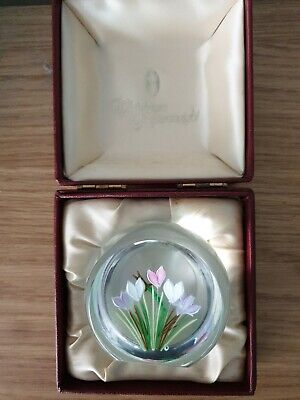 Whitefriars/caithness william manson glass paperweight boxed