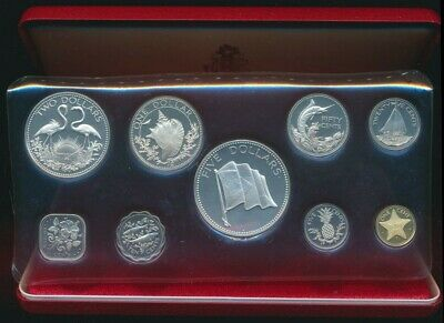 Bahamas 1974 9 Coin Proof Set ASW 2.85oz