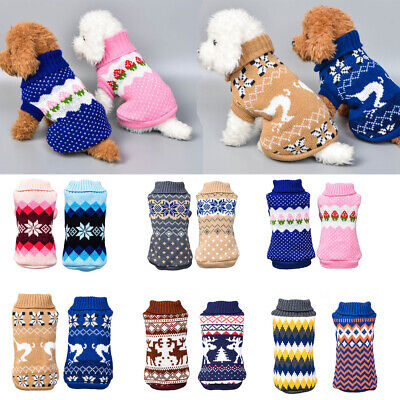 Cute Knitted Dog Jumper Pet Clothes Sweater For Small To Medium Dogs lot Styles