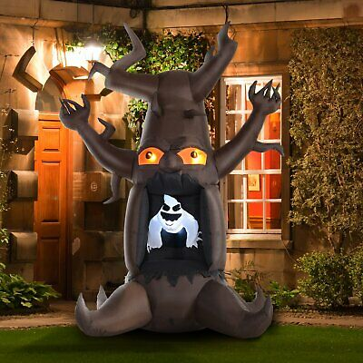 HOMCOM Inflatable Halloween Floating Ghost Tree With LED Light Outdoor 8FT 2.4M