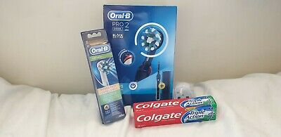 Braun Oral-B PRO 2 2500 Electric Toothbrush Rechargeable Power - Black Edition