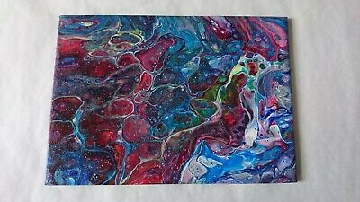 Acrylic Pour, Abstract, Art Painting, Home Decor Gift, Colours, Fluid Art, Cells
