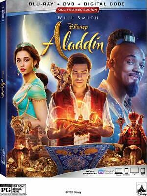 Aladdin  (Blu Ray + DVD) Combo Pack 2019 w/ SLIP COVER *FREE SHIPPING*** READ***