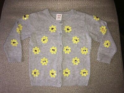 Seed Heritage Girls Cardigan With Sequence Flowers, Size 1 (12-18 Months)