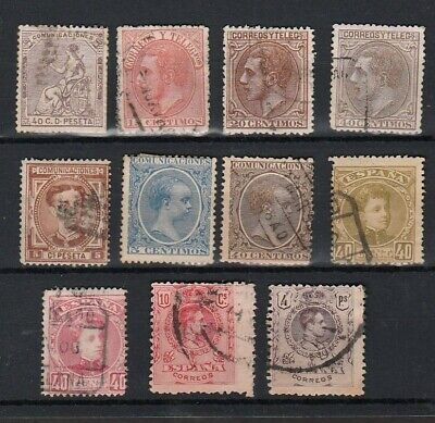 SPAIN 19th/ EARLY 20th CENTURY SELECTION OF STAMPS INCLUDING HIGH VALUES (11)