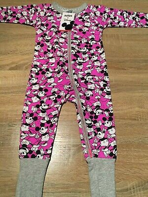Bonds Zippy Wondersuit Mickey Mania Purple Size 1 12-18 Months BNWT