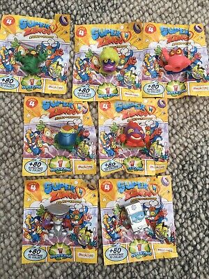 Superzings Series 4 Bundle Of 7 Inc. Rare Silver Finish Coldfrido & Nailord