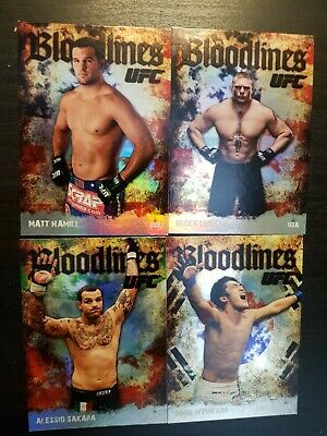 Topps ufc 2009 Series 2 Bloodlines Inserts lot.