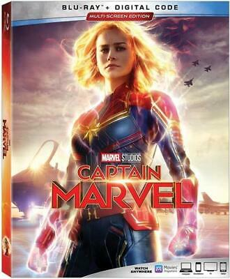 CAPTAIN MARVEL (Blu Ray) 2019 w/ SLIP COVER ***FREE SHIPPING****READ LISTING***