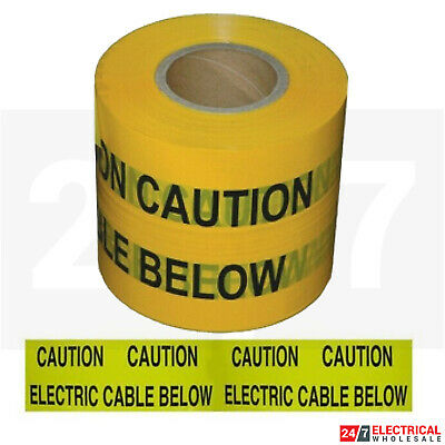 Caution Underground Warning Tape Electric Cable Below 150mm x 365M SWA Buried