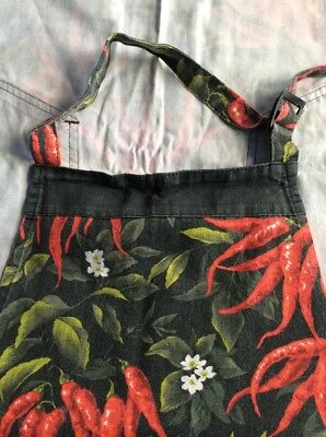 Set of 2 - Cotton 'Chillies' Apron with Two Pockets - by Fresh Impression