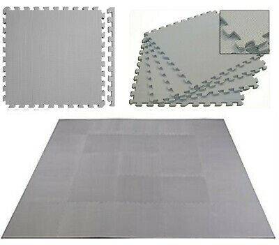 Grey 30 X 30 cm Eva Foam Mat Soft Floor Tiles Interlocking Play Kids Baby Mats