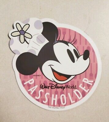 Epcot Food and Wine Festival 2019 Minnie Mouse WDW Annual Passholder Magnet