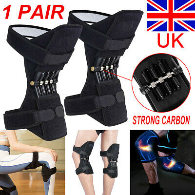 Patella Booster Spring Knee Brace Support Mountaineering Squat Sport Running NEW