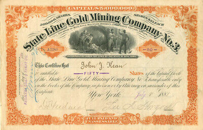 State Line Gold Mining Company No. 3