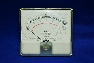 NRI Vacuum Tube Voltmeter Model W National Radio Institute Volt -  Meter Only