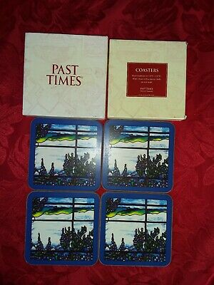 Past Times Oxford England Coasters (Set of 4)