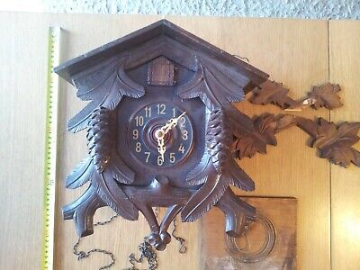 Vintage Large German Cuckoo Clock for parts or repair.