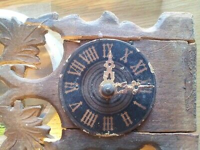 Vintage Small German Cuckoo Clock / Antique Weight Driven miniature Cuckoo Clock