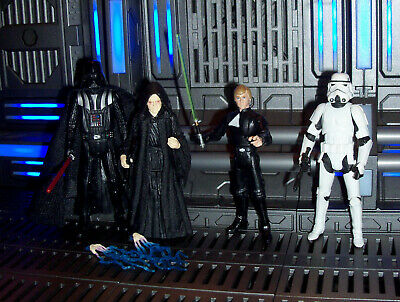 Star Wars ROTJ Legacy Luke Skywalker Emperor Darth Vader VC Stormtrooper lot 4