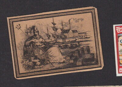 Old Matchbox label  England BN80567 Woman Ship