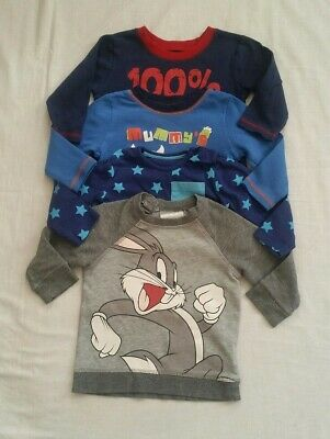 Beautiful selection of Baby Boy long Sleeve T-shirt & jumper clothe bundle 6-9m