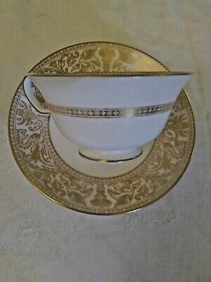 Wedgwood Gold Dragon Florentine Coffee Cup and Saucer Pattern # W4219
