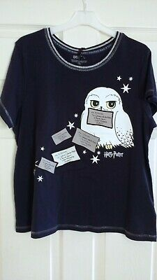 Official Licensed HARRY POTTER Womens Old Girls HEDWIG Owl Pyjama Top T Shirt