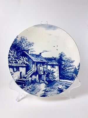 Vintage VILLEROY BOCH Wallerfangen Collectible Wall COTTAGE PLATE Germany #1519