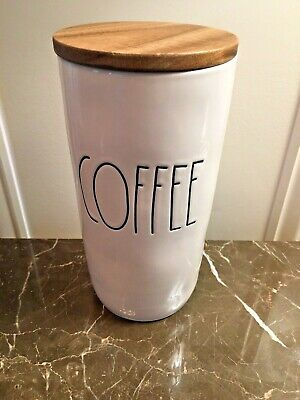 Rae Dunn COFFEE Canister With Wooden Lid - NWT