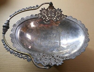 Brides Basket Wilcox Silver Plate Co 0864 Quadruple Plate Antique