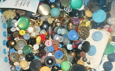 8 Lbs. Vintage Buttons CLEAN No Junk, Sewing,Crafts >-)))'>