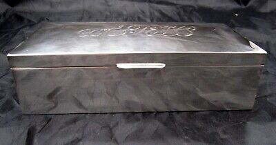 Antique sterling silver cigar box/humidor C. 1935