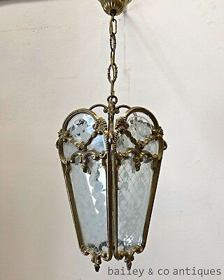Vintage French Hanging Lantern Chandelier Light Louis Style - PQ509