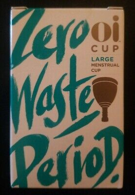 Oi Cup, Zero Waste Period. Size Large Menstrual Cup. Sealed Box.