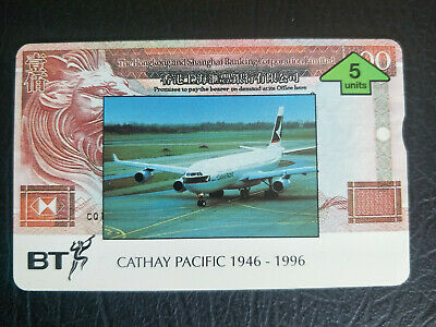 Mint 5 Unit UK BT Cathay Pacific 1946-1996 Phonecard